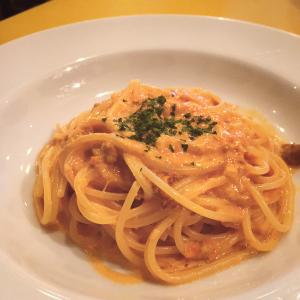 生ウニのトマトクリームのスパゲッティ