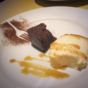 ガトーショコラとクリームチーズプリン1